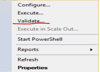 validate SSIS package